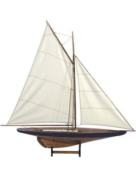 Sail Model Blue & Green Ship, 1901