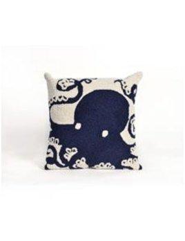 Navy Octopus Pillow
