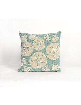 Aqua Shell Toss Pillow