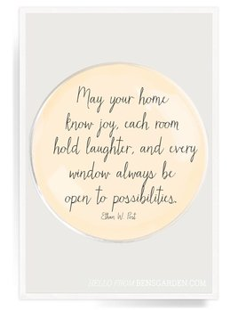 May your Home Know Joy Decoupage Glass Tray