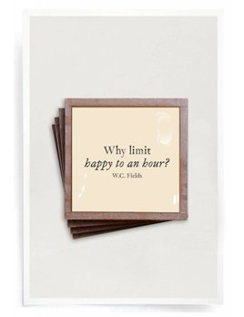 Why Limit Happy Hour Good Freinds Good Wine Copper & Glass Coasters