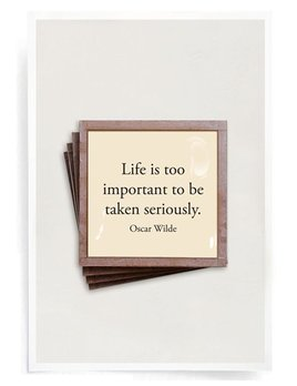 Life is Too Important Copper & Glass Coasters