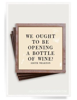 We Ought to Be  Copper & Glass Coasters