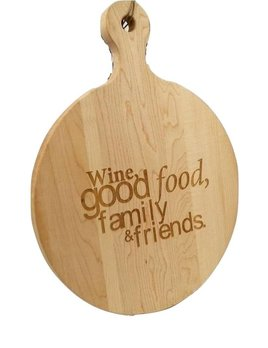 Wine Good Food Round Cutting Board 16X16