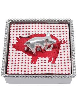 Pig Beaded Napkin Box