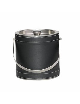 Black Leather Ice Bucket 3qt