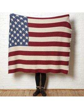 Vintage American Flag Throw