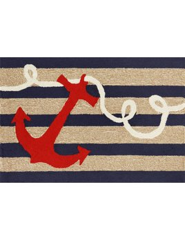Anchor Navy Stripes Rug