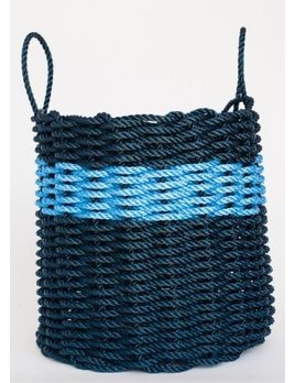 Navy & Blue Stripe Basket