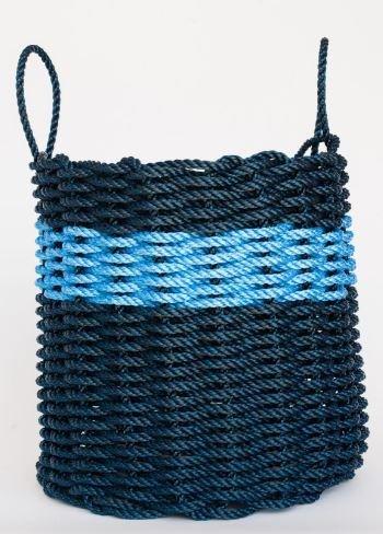 Navy & Blue Stripe Basket