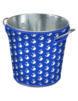 Royal Blue Whale Party Ice Bucket