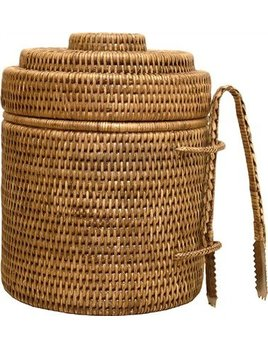 Brown Round Ice Bucket Thermos Liner