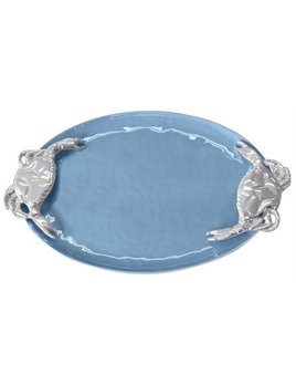 Shore Blue Crab Handled Serving Tray