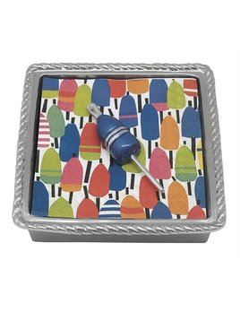 Cobalt Buoy Rope Napkin Box