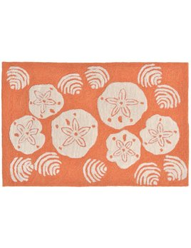 Coral Shell Toss Rug