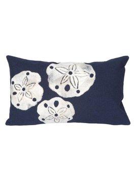 Navy Sand Dollar Pillow