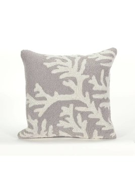 Silver Coral Pillow