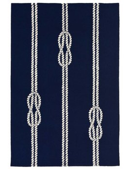 Navy Ropes Capri Rug