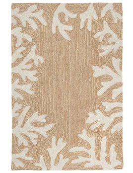 Neutral Coral Border Capri Rug
