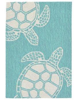 Aqua Turtle Capri Rug