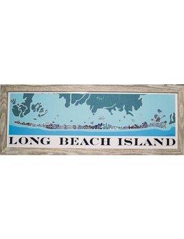 Blue Long Beach Island Map 12x36