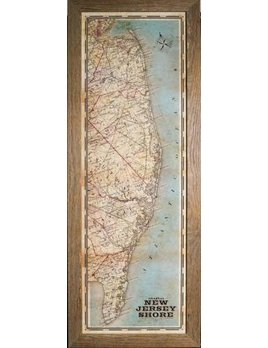 Vintage Full Jersey Map 12x36
