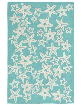 Aqua Starfish Capri Rug