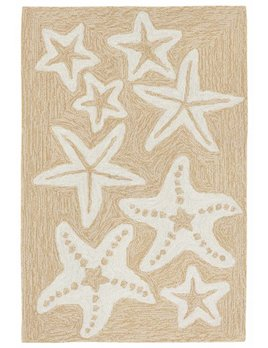 Neutral Starfish Capri Rug