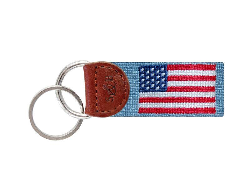 American Flag Key Fob