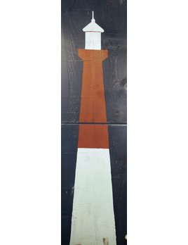 Lighthouse 2 Panel 2x6 Salute White on Indigo Streamer