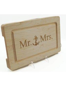 Mr & Mrs Anchor Cutting Board 13x8