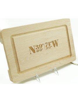 Avalon Latitude & Longitude13x8 Cutting Board