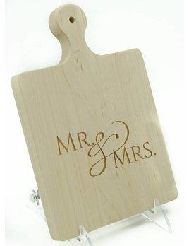 Mr Mrs Script ART 9x6 Cutting Board