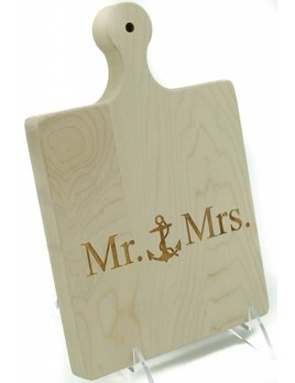 Mr & Mrs Anchor ART Cutting Board 9x6