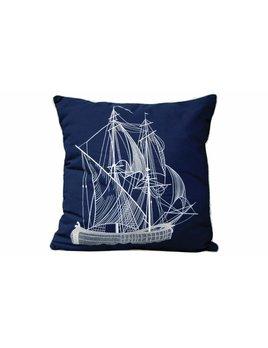 Vintage Ship Sunbrella Pillow