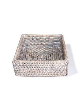White Cocktail Napkin Box