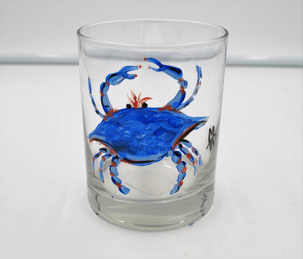 Blue Crab Hand Painted DOF