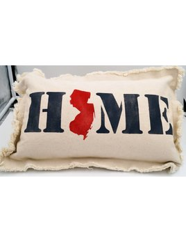 Home NJ State Pillow 12x18