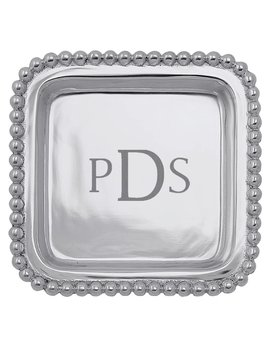 Personalize It  Beaded Square Tray