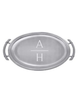 Personalize It Classic Oval Service Tray