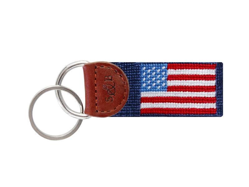 American Flag Key Fob Dark Blue