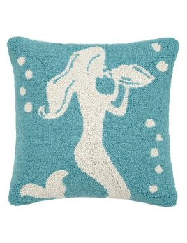 Conch Shell Mermaid Pillow 16x16
