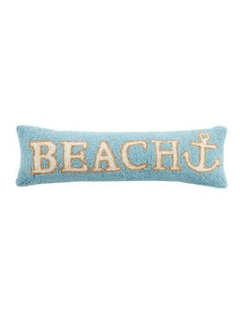 Beach Anchor Pillow 8x24