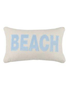 Beach Applique Pillow 12x20