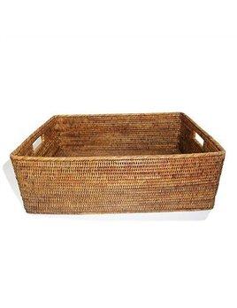 Brown Rectangular Family Basket