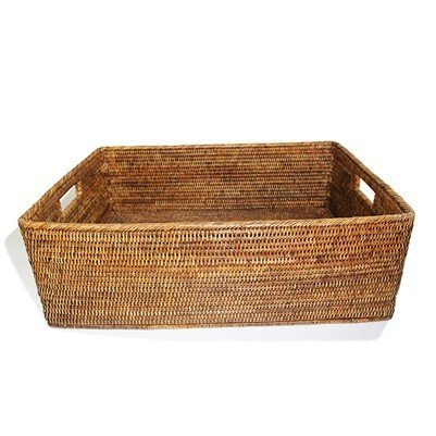 Brown Rectangular Family Basket