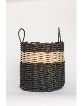 Charcoal Light Tan Rope Basket