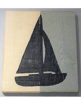 Sailboat Half Color 18x16