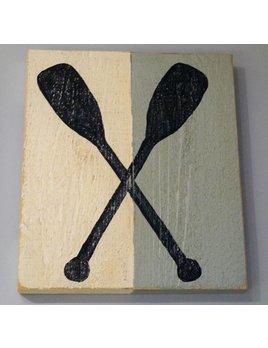 Crossed Paddles Half Color 18x16