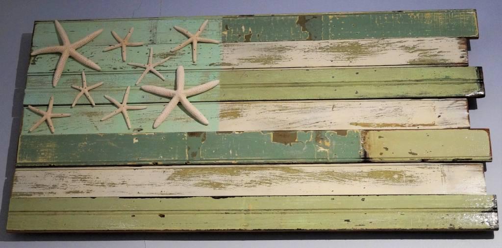 4' Flag Coastal with Starfish